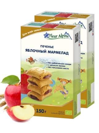 Печенье Fleur Alpine ЯБЛОЧНЫЙ МАРМЕЛАД для всей семьи,  2 шт. по 150 г