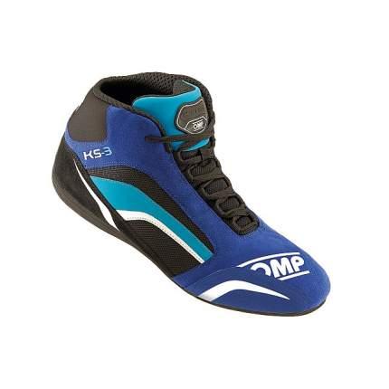 Ботинки для картинга KS-3, синий/черный/голубой, р-р 35 OMP Racing IC/81324135