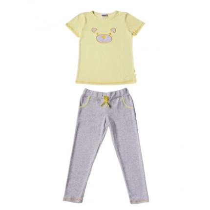 Пижама для девочек Ciggo, цв. желтый, р-р 140