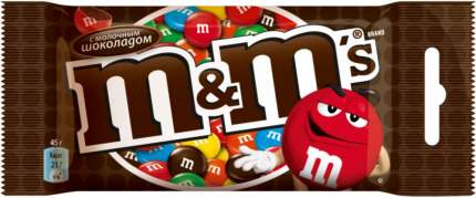 Драже M&M's с молочным шоколадом 45 г