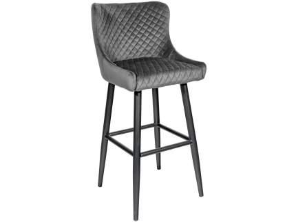 Барный стул MC15B HLR-21 Серый, велюр