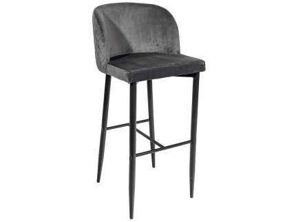 Барный стул MC11B HLR-21 Серый, велюр