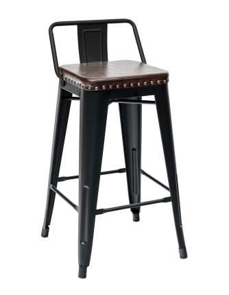 Барный стул STOOL GROUP TOLIX SOFT, черный/коричневый