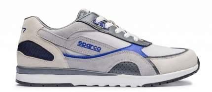 Ботинки повседневные SH-17, кожа/ткань, серебристый/синий, р-р 38 Sparco 00126238SIAZ