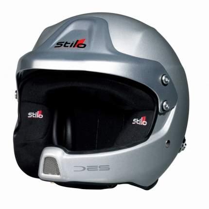 Шлем открытый WRC DES COMPOSITE, интерком, HANS, FIA, серый, р-р 59 Stilo AA0210BG2M59