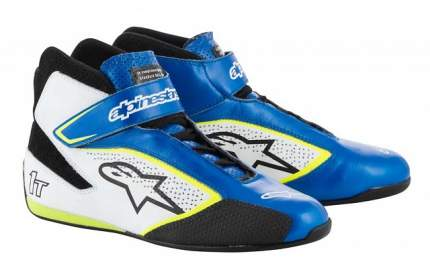 Ботинки для автоспорта TECH-1 T, FIA, синий/жёлтый/белый, 43 Alpinestars 2710019_758_10