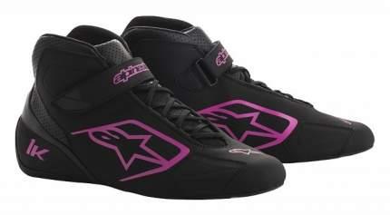 Ботинки для картинга TECH 1-K, чёрный/фиолетовый, р-р 42 (9) Alpinestars 2712018_1039_9