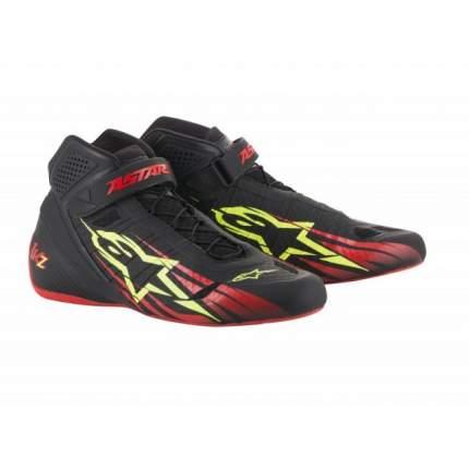 Ботинки для картинга TECH 1-KZ, чёрный/красный/жёлтый, 42 (9) Alpinestars 2713018_136_9