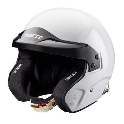 Шлем открытый для автоспорта (FIA) PRO RJ-3 (клипсы HANS), белый, XXL Sparco 0033536XXL