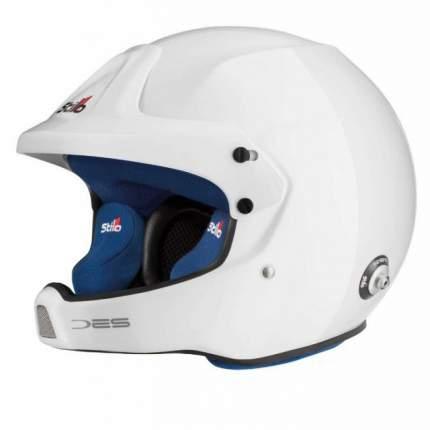 Шлем открытый WRC DES COMPOSITE,интерком,HANS,FIA,белый/синий,59 Stilo AA0210BG2M590102