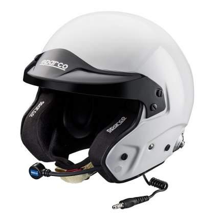 Шлем для автоспорта PRO RJ-3i открытый, интерком, FIA, HANS, белый, M+ Sparco 0033523ML