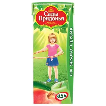 Сок Сады Придонья Яблочно-персиковый с мякотью с 5 мес 200 мл