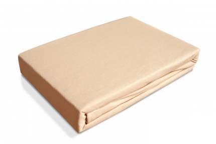 Простынь трикотаж на резинке Ol-tex 160х200 персиковый