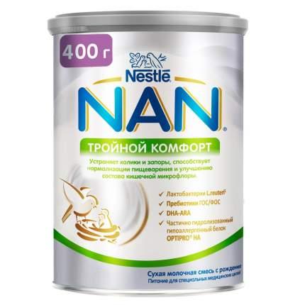 Молочная смесь от колик и запоров NAN Тройной комфорт от 0 до 6 мес. 400 г