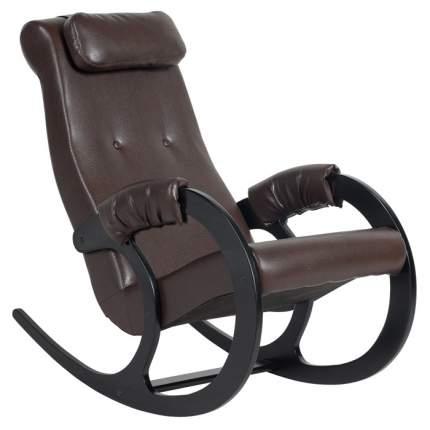 Кресло-качалка Блюз Экокожа Chocolate