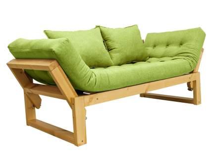 Прямой диван АНД Амбер Зеленый, рогожка, Сосна натуральная