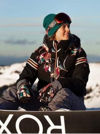 Женская сноубордическая куртка POP Snow Meridian, TRUE BLACK POP FLOWE, M