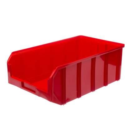 Пластиковый ящик Стелла-техник V-4-красный 502х305х184мм, 20 литров