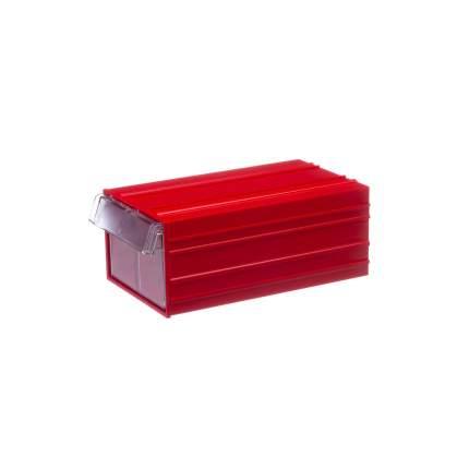Пластиковый короб Стелла-техник С-2-красный-прозрачный 140х250х100мм