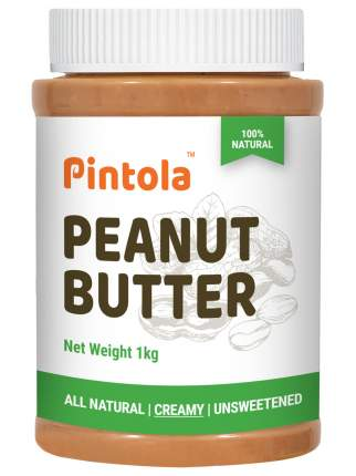 Кремовая арахисовая паста без добавления сахара Pintola Creamy Natural, 1кг