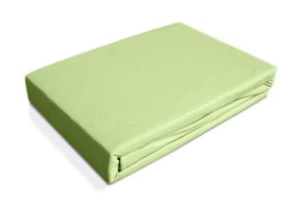 Простынь трикотаж на резинке Ol-tex 160х200 светло-зеленая