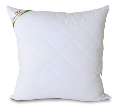 Подушка с бамбуковым волокном и съемным чехлом 70х70 белая Ol-tex