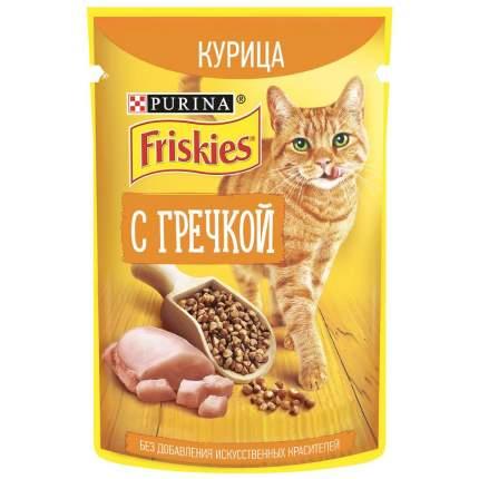 Влажный корм для кошек Friskies с курицей и гречкой в подливе, 75 г