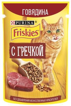 Влажный корм для кошек Friskies с говядиной и гречкой в подливе, 75 г
