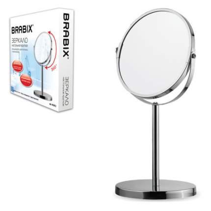 Зеркало косметическое настольное 17 см, двустороннее BRABIX, 602852