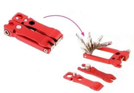 Велосипедный мультитул Kenli KL-9835F 20 в 1 красный
