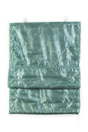 """Римские шторы, """"Флоренция"""", ПраймДекор, бирюзовый, 80х160"""