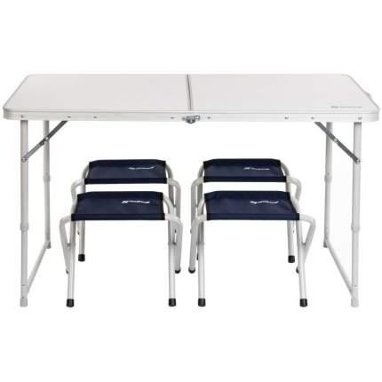 Туристический стол со стульями Nisus N-FS-21407+21124A white-silver