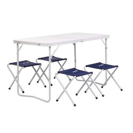 Туристический стол со стульями Helios 21407+21124 135138 серый