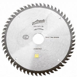 Пильный диск твердосплавный АТАКА Ф200х30мм 56зуб. (8078030)