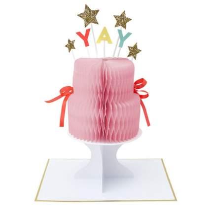 """Открытка на подставке Meri Meri """"Йес! Торт"""""""