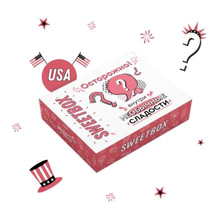 Сюрприз бокс USA SweetBox XL (вкусняшки США)