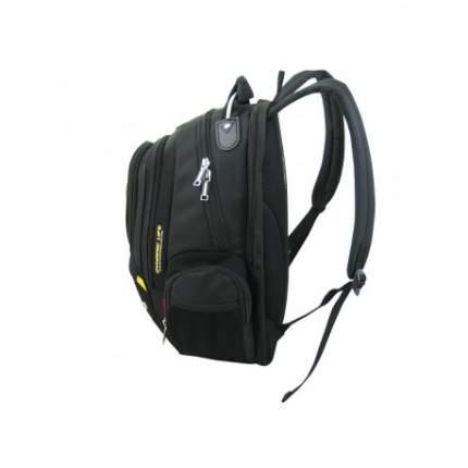 Рюкзак мужской NoBrand N1196 черный с серым и желтым