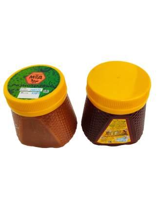 Мед гречишный и разнотравье Бийский пчелоцентр набор 2 шт 700 г