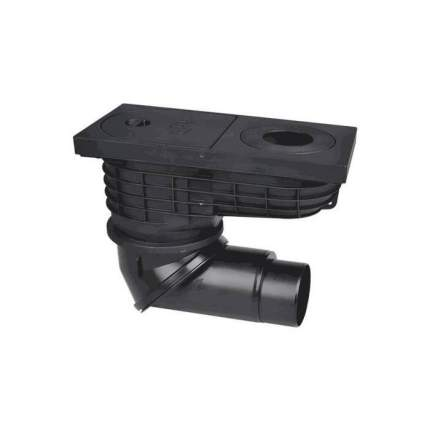 Трап РР ливневой канализации с ловушкой для листвы Дн110-125 вып с пов/шарниром HL 600NG