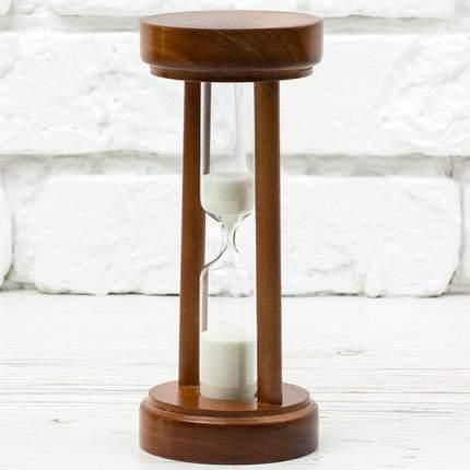 Песочные часы на 5 минут в деревянном корпусе