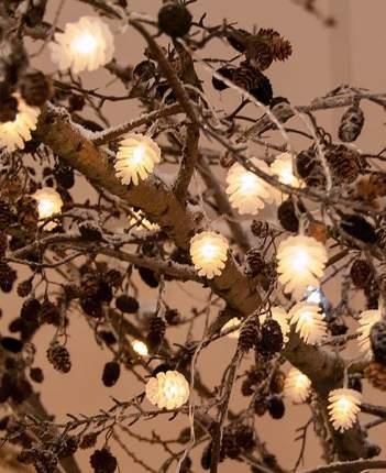 Новогодняя электрическая гирлянда Kaemingk Ледяные шишки 481573 0,9 м белый теплый