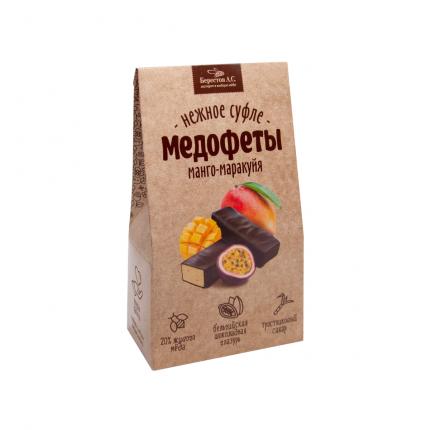 Суфле Galagancha манго-маракуйя в шоколадной глазури, коробка 150г
