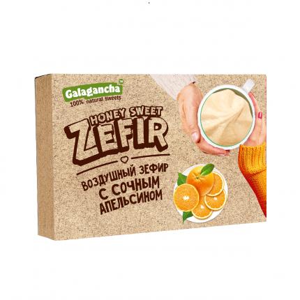 Зефир Galagancha с цукатами апельсина, коробка 140г