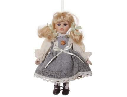 Елочная игрушка ShiShi Винтажная куколка в сером сарафане 49410 20 см 1 шт.