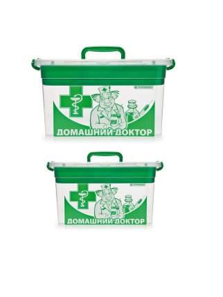 Комплект контейнеров Полимербыт для домашней аптечки 10 л и 6,5 л 2 шт.