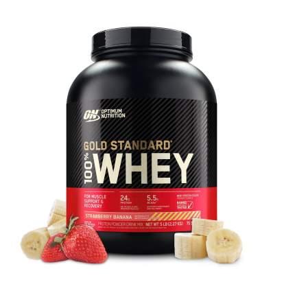 Протеин Optimum Nutrition 100 % Whey Gold Standard 2270 г Strawberry Banana
