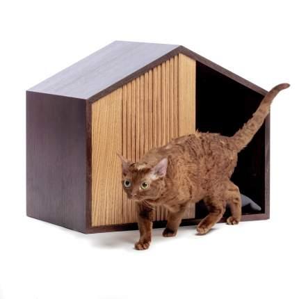 Домик для кошек и собак Pettel EFFECT HOUSE, черный, 53x35x42см