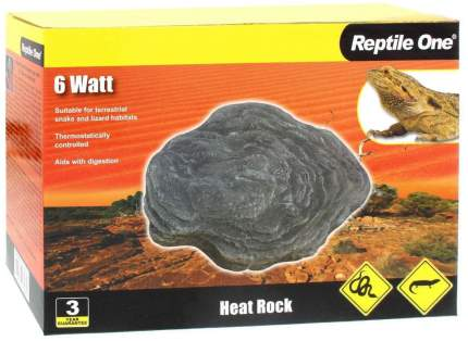 Греющий камень Reptile One Heat Rock 6 Вт, с встроенным термостатом, 14,5х12 см