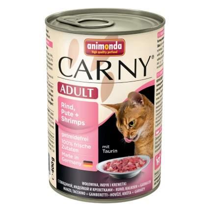 Консервы для кошек Animonda Carny Adult, с индейкой и креветками, 400г