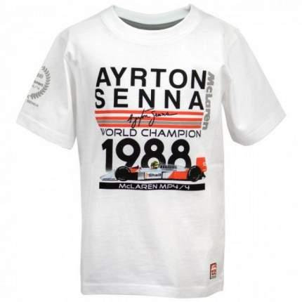 Футболка Senna= World Champion 1988 McLaren (белый) 140 Racing Legends AS-ML-18-9130_140